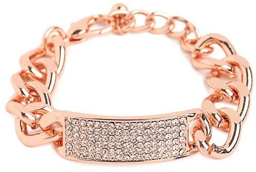 Rose Link Bar Bracelet