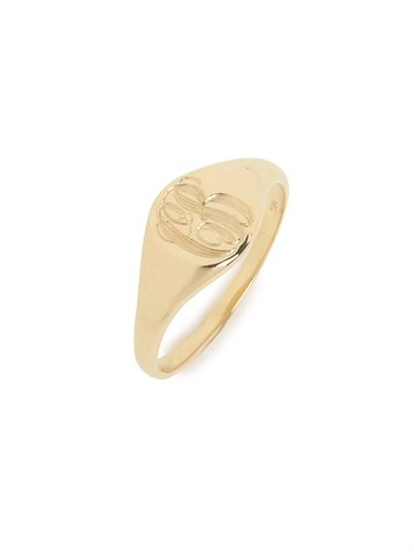 Ariel Gordon Gold Classic Signet Ring (SHIPS 4 WEEKS FROM ORDER DATE)