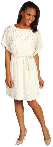 Jessica Howard - Dolman Sleeve Smock Waist Blouson Dress (Ivory) - Apparel