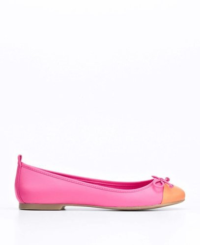 Shanna Colorblocked Leather Ballet Flats