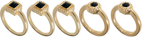 Pieces Virtu Set Of Five Rings