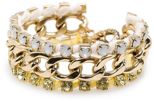 TOUCH - Crystals chain link bracelet