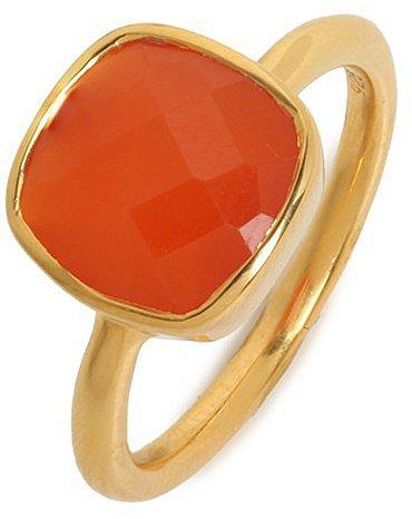 Margaret Elizabeth Carnelian Cushion Cut Ring