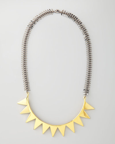 Eddie Borgo Two-Tone Smile Necklace