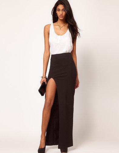 ASOS Maxi Skirt with Thigh High Split