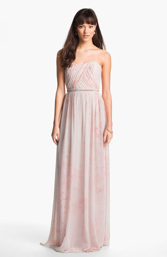 Erin by Erin Fetherston 'Cross Heart' Embellished Chiffon Gown