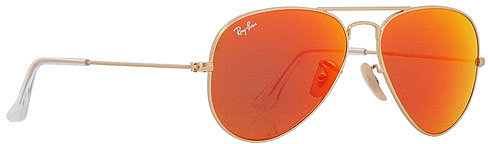 Aviator Metal 55 mm Sunglasses in Orange Mirror/Gold-112-69 - by Ray-Ban