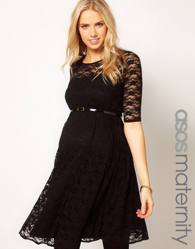 ASOS Maternity Lace Skater Dress With 3/4 Sleeve