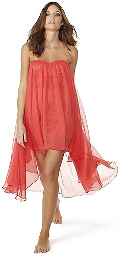 Blaque Label Sweetheart Chiffon Dress in Sugar Coral