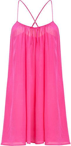 Princesse Tam Tam Neon Pink Silk Cami Dress