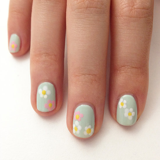 This nail design may have been for Easter, but the pastel and floral manicure is one you can wear again and again this Spring.