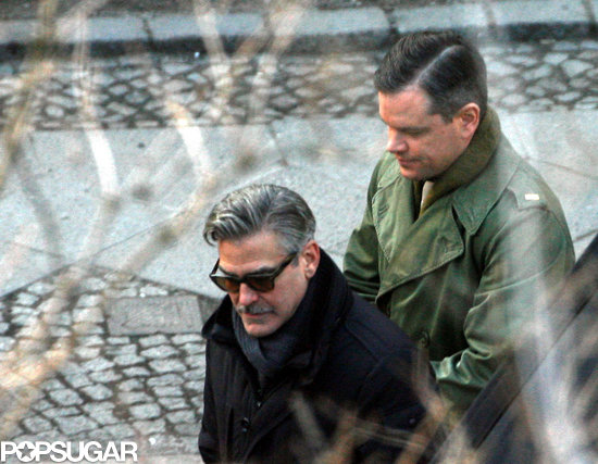 George Clooney and Matt Damon were on set together in Berlin.