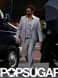 Bradley Cooper wore a retro suit on set.