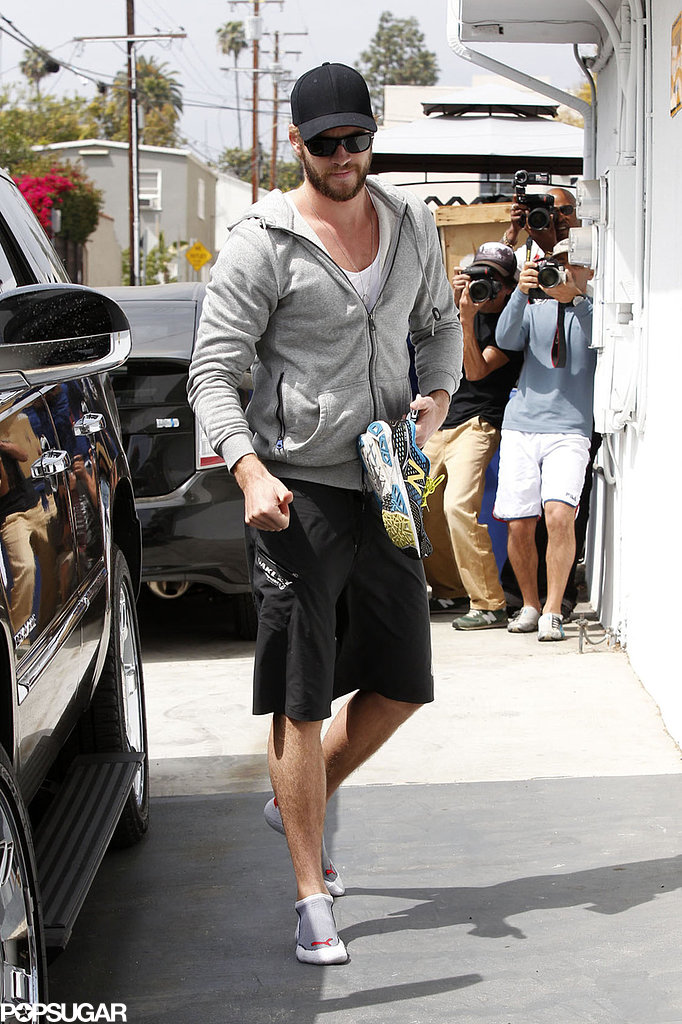 Liam Hemsworth was ready to work out in LA.
