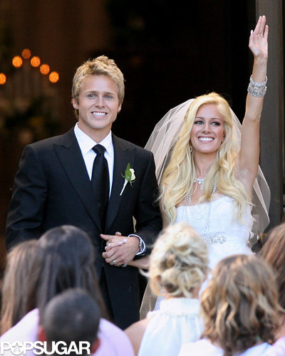 Heidi Montag and Spencer Pratt's lavish LA wedding in April 2009 was captured by their reality-show cameras.