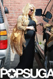 Jessica Simpson left an office building in LA.