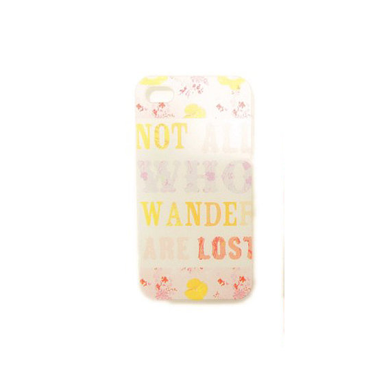 "You've probably heard the phrase ""Not all those who wander are lost"" before, and now you can carry it with you thanks to this cute iPhone case ($7)."