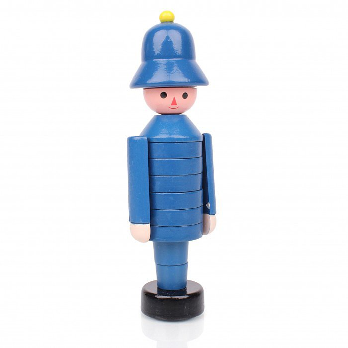 Heritage Toys Wooden Stacking Policeman