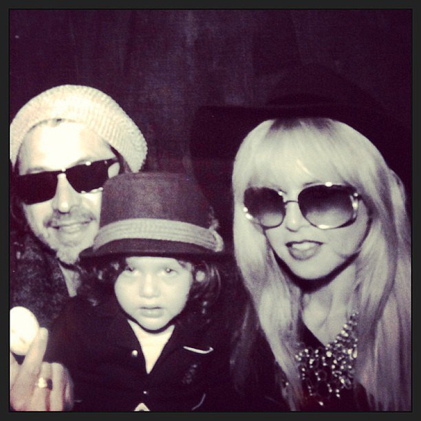 Skyler Berman joined his parents for an Easter greeting. Source: Instagram user rachelzoe