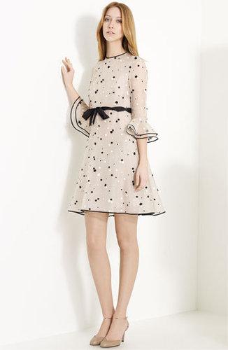 Valentino Floral Appliqué Organza Dress