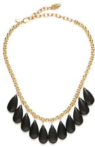 David Aubrey Onyx Teardrop Chain