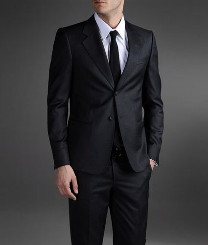 Two-Button Suit In Tropical Wool