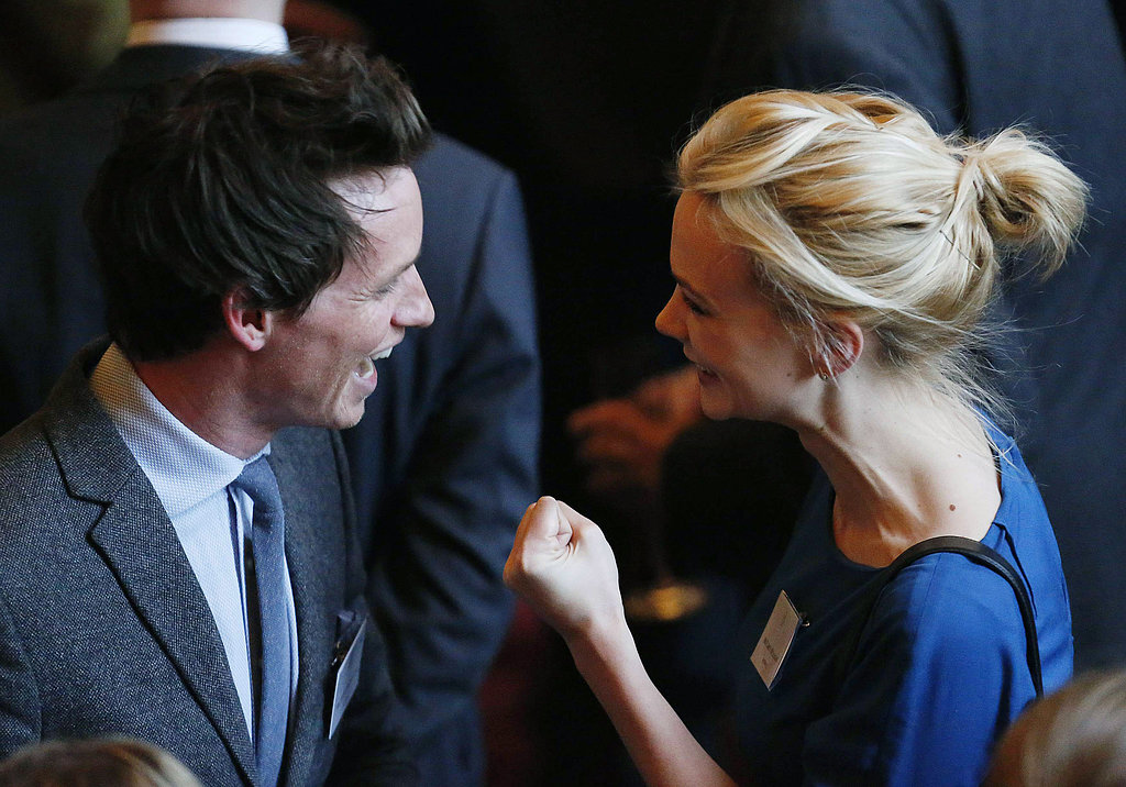 Eddie Redmayne and Carey Mulligan Have a Giggly Reunion After Meeting the Queen