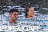 Jessica Alba Gets in Bikini Cuddles With Cash Warren in St. Barts