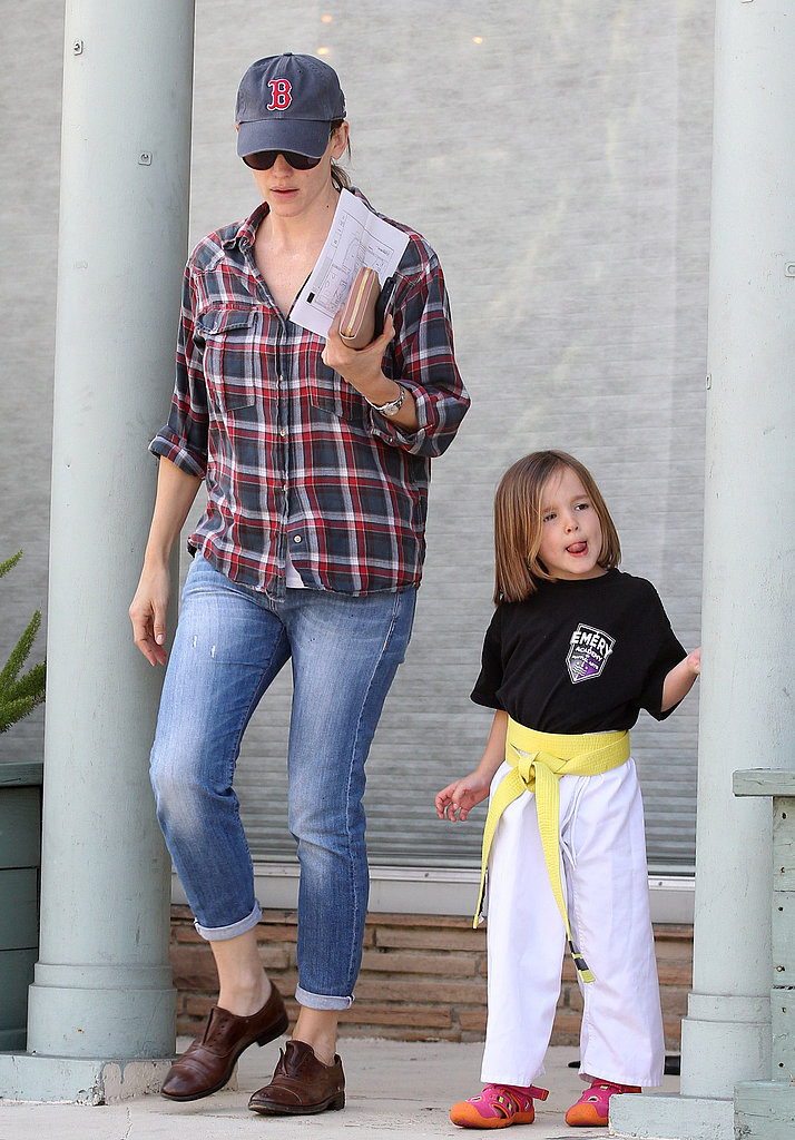 Jennifer Garner took her daughters to karate class.