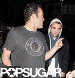 Robert Pattinson walked behind Vince Vaughn.