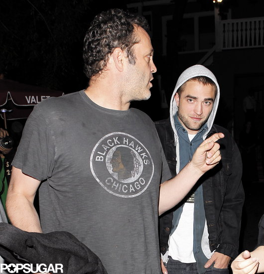 Robert Pattinson walked behind Vince Vaughn.