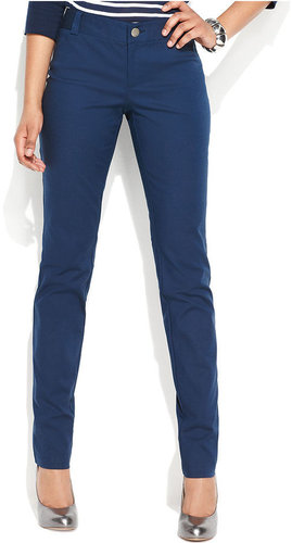 INC International Concepts Petite Pants, Skinny Four-Pocket Stretch