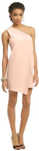 Tibi Blush Sequin Sprinkle Dress