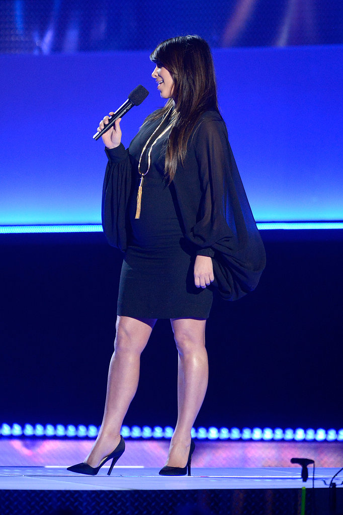 Kim Kardashian made an on-stage appearance during the night.
