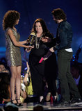 Funny lady Melissa McCarthy appeared on stage at the movie awards.