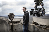 Director Joseph Kosinski on the set of Oblivion.