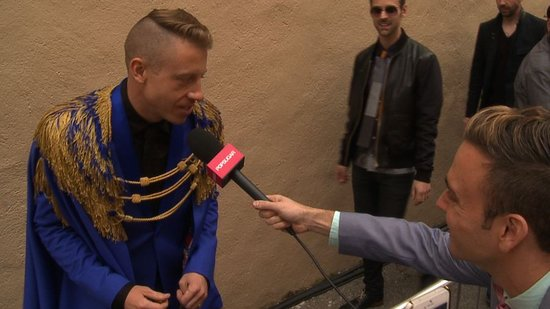 "Video: Macklemore Teases  ""Frontal Nudity"" in His MTV Movie Awards Performance"
