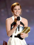 Emma Watson took the stage to accept her Trailblazer Award.