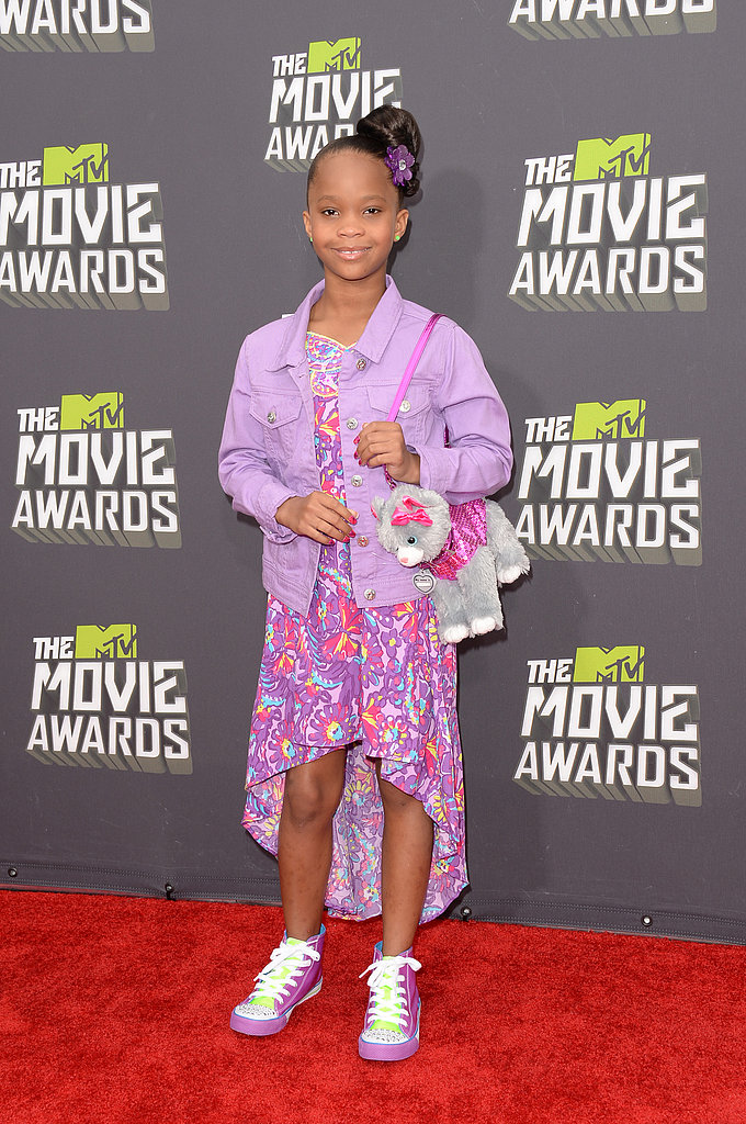 Quvenzhané Wallis at the MTV Movie Awards.