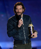 Bradley Cooper accepted his award for best male performance at the MTV Movie Awards.