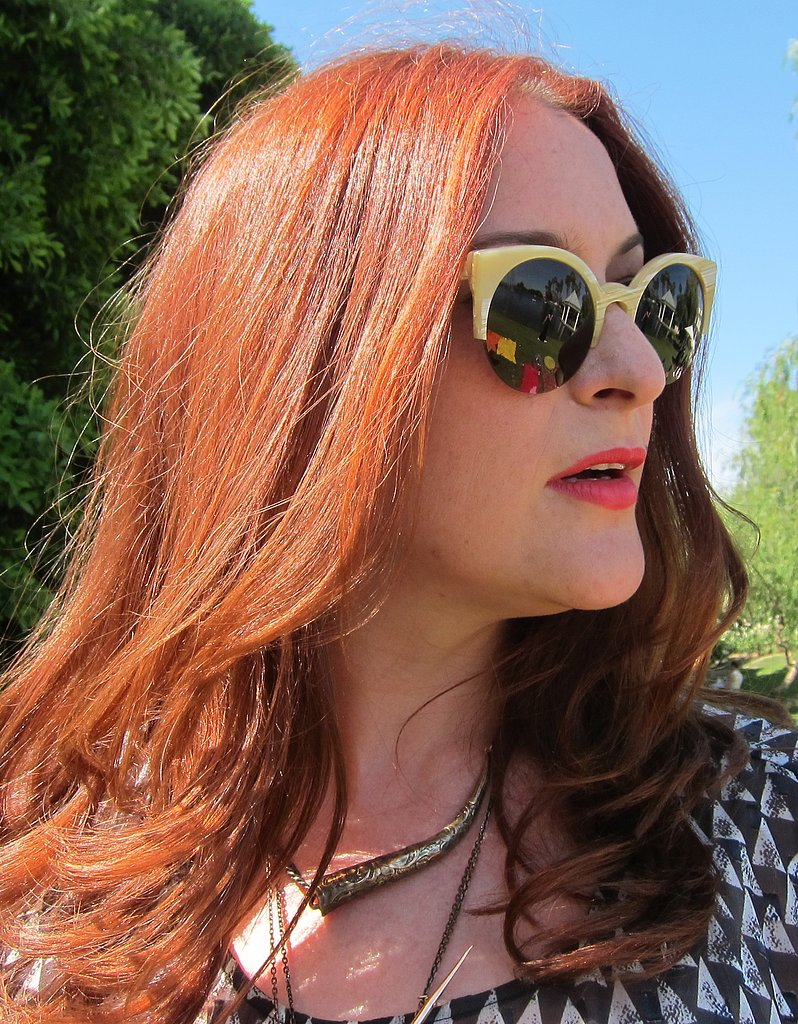 Red hair with red lipstick is twice as nice. Photo: Meg Cu