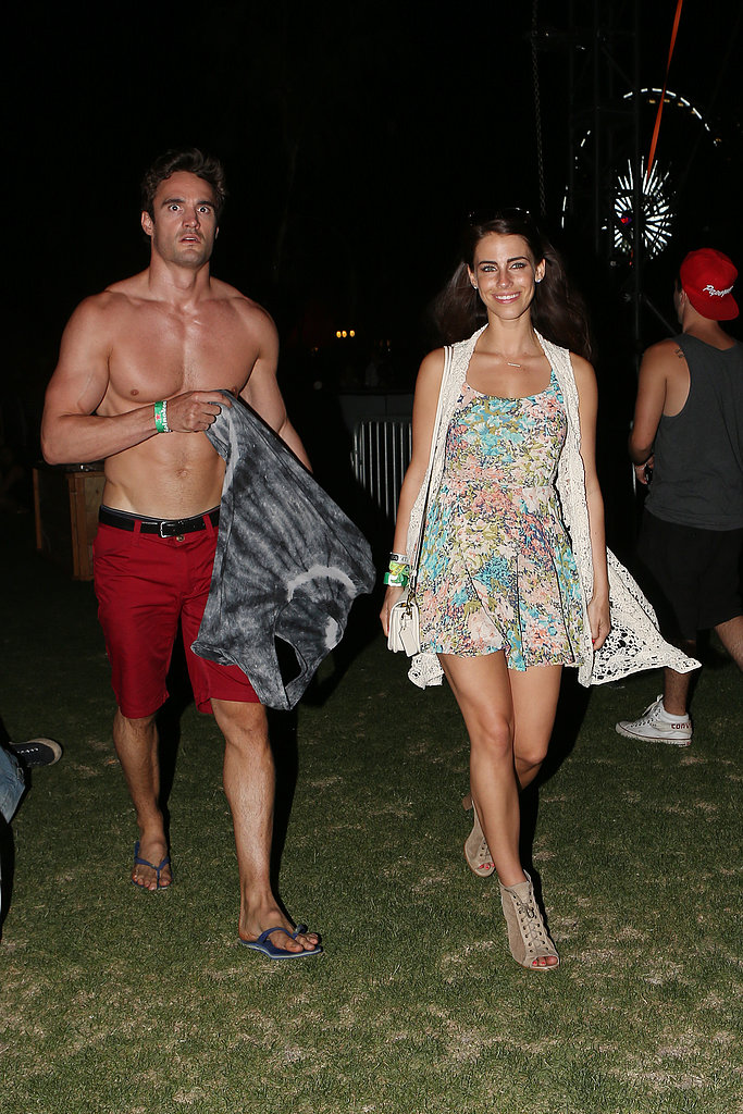 A shirtless Thom Evans hung out with Jessica Lowndes in 2013.