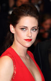 For the premiere of boyfriend Robert Pattinson's film Cosmopolis in 2012, Kristen turned up the sex appeal with a tousled updo, shimmering eyes, and a smoldering red lip.