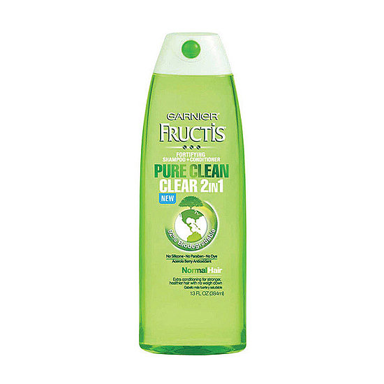 Sometimes a multitasking product is needed to save time (and water). With Garnier Fructis Haircare Pure Clean Clear 2-in-1 ($6), you get clean and conditioned strands in just one step.