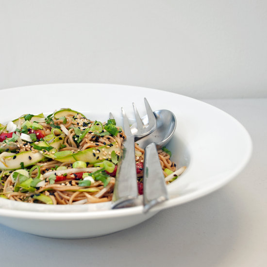 Sesame-Ginger Soba Noodle Salad With Ribboned Asparagus
