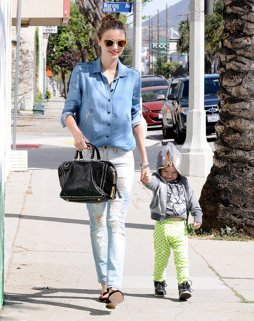 Miranda Kerr and Flynn Bloom enjoyed a sunny afternoon together.