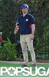 Justin Timberlake golfed with Kiefer Sutherland.
