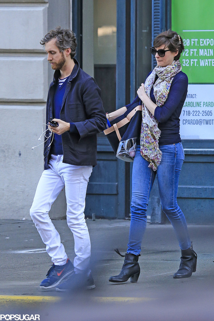 Anne Hathaway and Adam Shulman Embrace Spring in Brooklyn Together