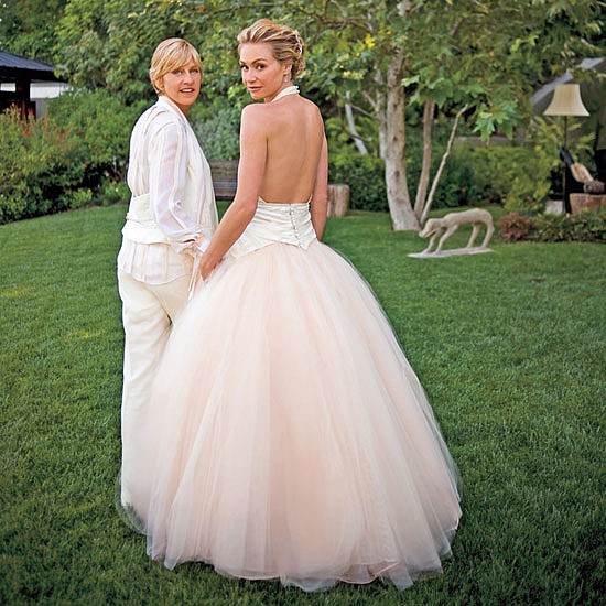Ellen DeGeneres and Portia de Rossi tied the knot at their LA home in August 2008. Source: The Ellen DeGeneres Show