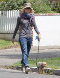 Naomi Watts walked her Yorkie in Brentwood.
